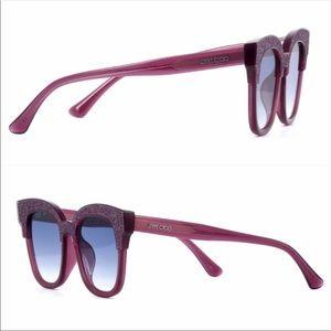 Jimmy Choo Mayela purple glittered fashion shades!